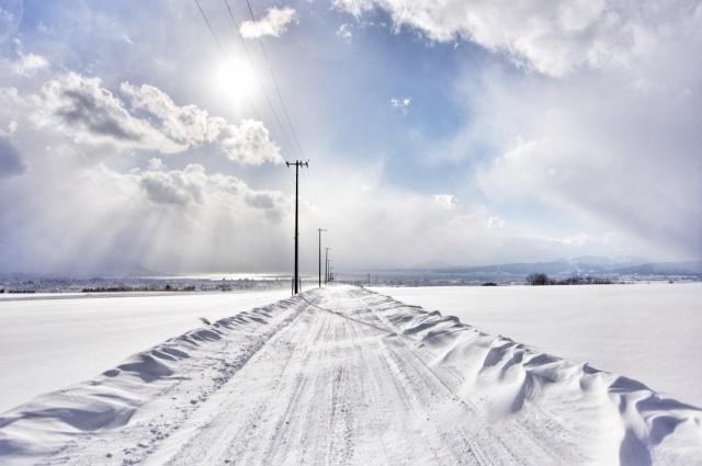原付 雪道